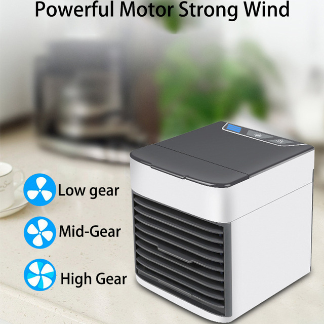 Mini Air Cooler Personal Space Cooling Fans Device Home Office Desk Air Conditioner Portable Quick Easy