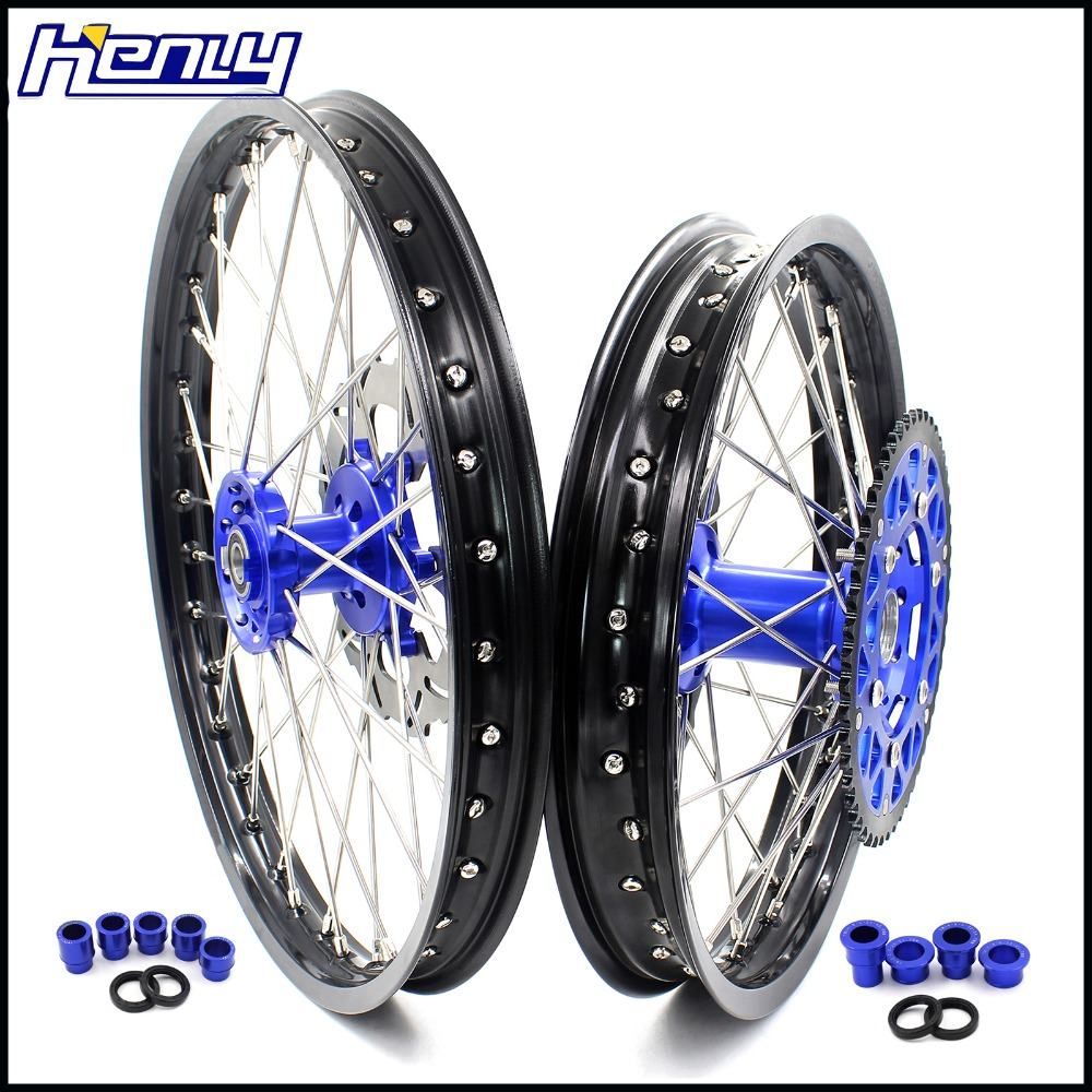 Anodized Blue Rear Wheel Spacers for Yamaha YZ 12 250 YZ250F YZ450 2002 /& Up