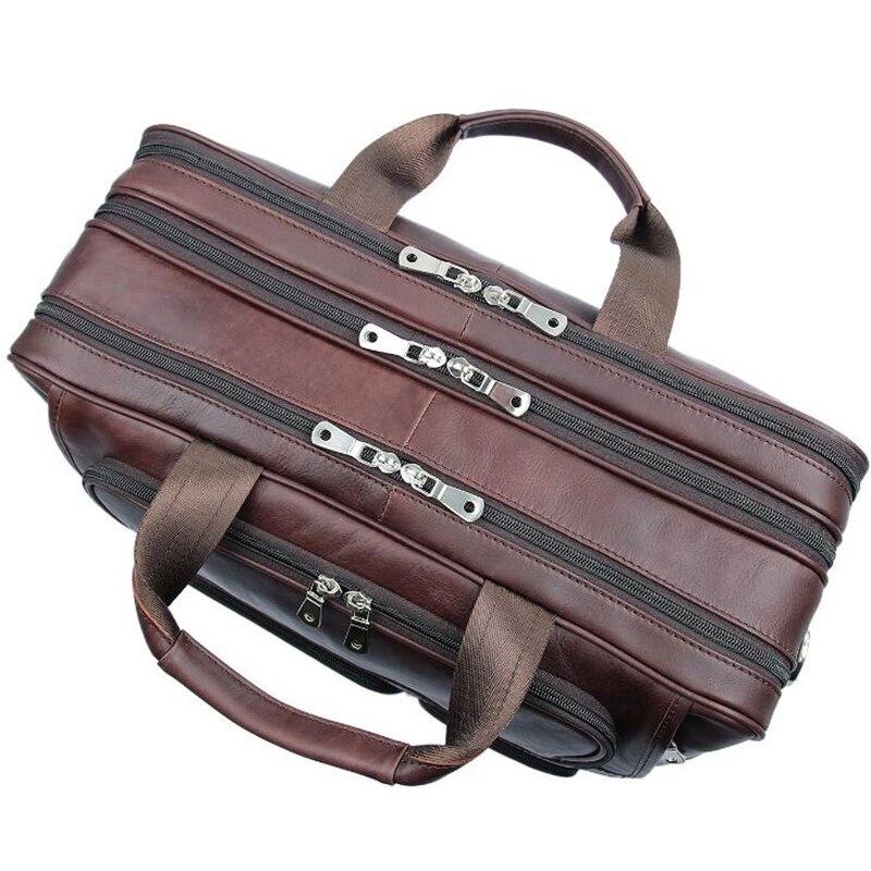 Reise brown Vintage Großen Level Männer Echtes Leder Handtasche Funktionale Westlichen Top Qualität Laptop Schwarzes Umhängetasche Red nqgwz6gB