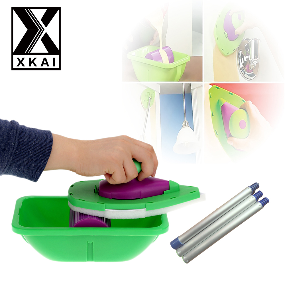 XKAI Decorative Paint Roller And Tray Set Paint Pad Pro Painting Brush Point N Paint Household