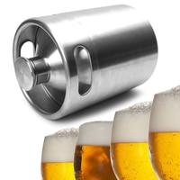 VFGTERTE 1PC 2L Beer Kegs Stainless Steel Mini Beer Growler for Party Beer Geek Wedding Home Kitchen Beer Brewing Kitchen Tools
