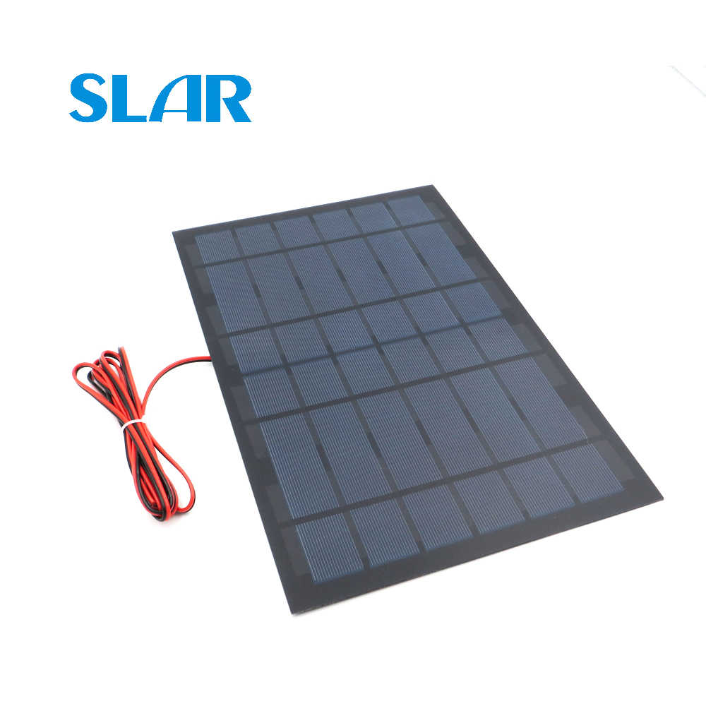 Solar Panel Polycrystalline Silicon 6V 10Watt with 200cm extend cable DIY 12V Battery Charger Module Mini Solar Cell wire toy