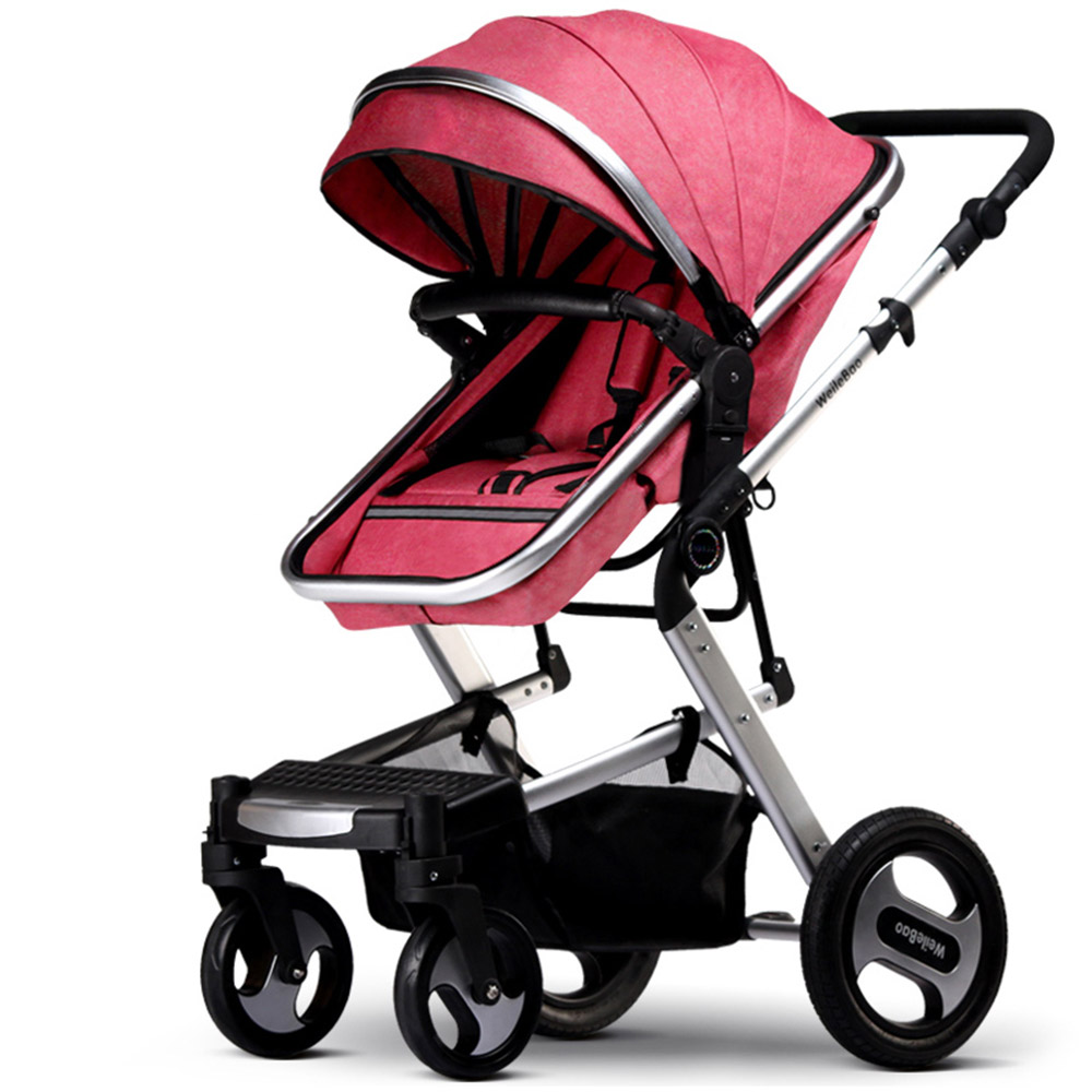 KUBEEN&Baby Bum Luxury Baby Stroller 2 In 1 Carriage High Landscape Pram Suite For Lying And Seating On 2019