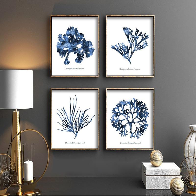 Sea Coral Wall Print Living Room Decoration