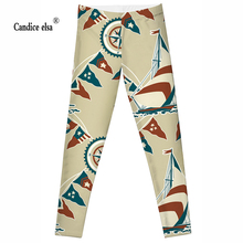 2016 Fashion Plus Size Sexy Extra-terrestrial Digital Printing Fitness LEGGINGS S-4XL Drop Shipping Sailing and flag