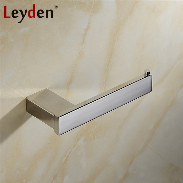 Leyden Stainless Steel Toilet Paper Holder Polished Chrome Wall Paper Holder  Square Toilet Tissue Holder Bathroom