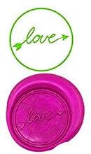 LOVE Custom Logo Luxury Vintage Wax Seal Stamps Kit Wedding Invitation Sealing Stamps Gift