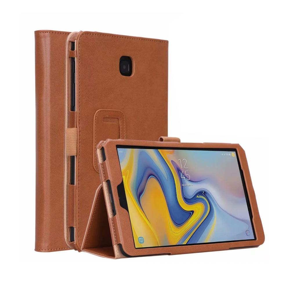 PU Leather Case Protective Cover For Samsung Galaxy Tab A 8.0 Inch 2018 SM T387 Magnetic Folding Stand Cover For Samsung T387