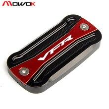 Tampa para fluido de freio de motocicletas, 5 cores preto + vermelho cnc tampa para honda vfr 800/800x crossrunner/800f/1200x crosstourer vfr