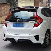For Honda Fit Jazz Spoiler 2014 2015 2016 2017 Car Tail Wing Decoration ABS Plastic Unpainted Primer Rear Trunk Roof Spoiler