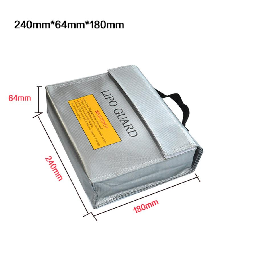 LiPo Li-Po Battery Fireproof Safety Guard Safe Bag 240*64*180MM Levert Dropship Sep16