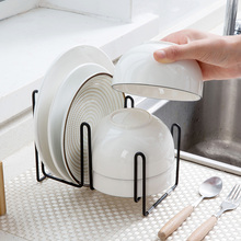 Iron dish bowl dishes Storage rack chopsticks shelves kitchen utensils table racks tray drain racks