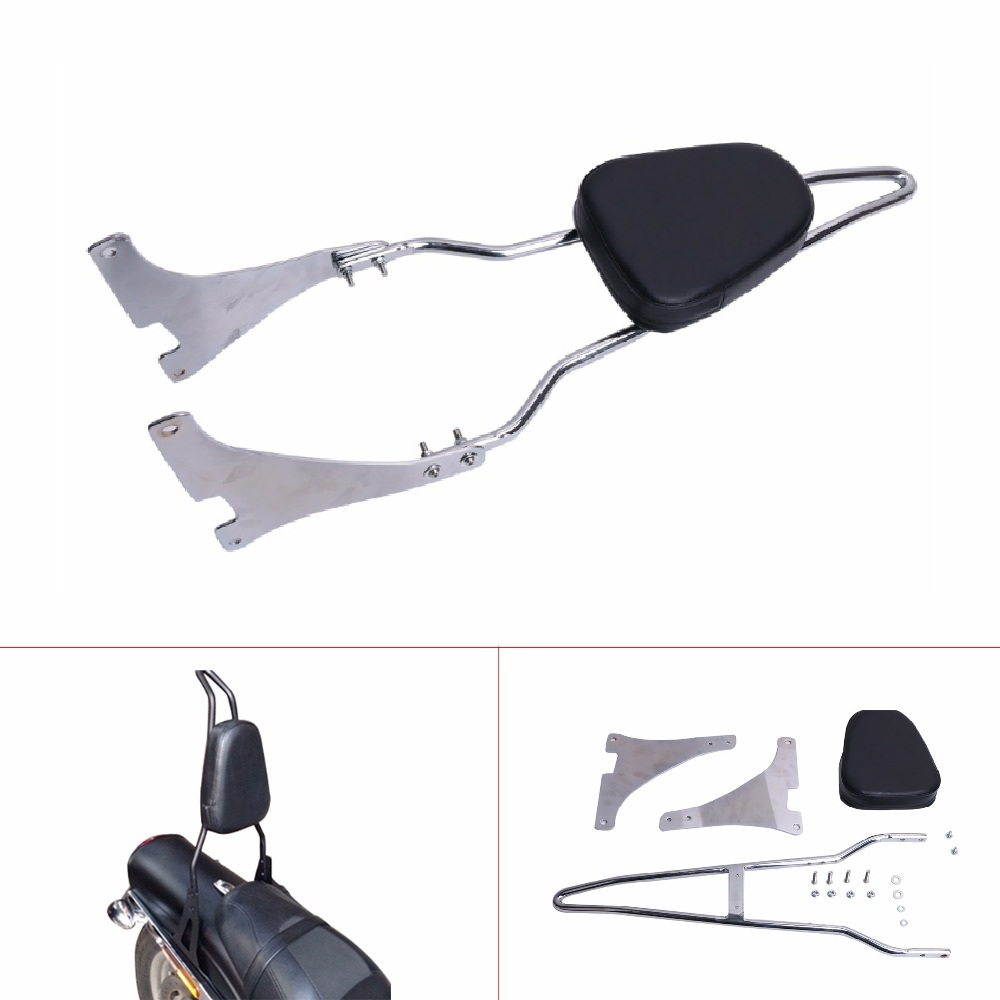 Motorcycle Black Rear Backrest Sissy Bar With Detachable Cushion Pad For Harley Sportster Iron Forty Eight XL 883 1200 2004 - UP xyivyg motorcycle chin fairing front spoiler for harley sportster 1200 883 low xl1200l forty eight 2004 2014