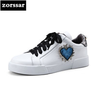 Zorssar 2018 New Spring Autumn Genuine Leather Casual Women Sneakers Flats Walking Shoes Fashion Female