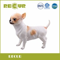 Recur Cute Kawaii Toy Chihuahua Dog Pet Delicate Model Hand Painted Soft PVC Animal Figure Toys