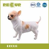 Wiederholen Nette Kawaii Spielzeug Chihuahua Hund Pet Zarte Modell Handgemalte Weiche PVC Tierfigur Spielzeug Geschenk Sammlungen