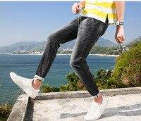 Летний стиль утр тонкий свет Для мужчин джинсы модный бренд джинсы мужской Повседневное деним Для мужчин джинсы узкие джинсы оптом