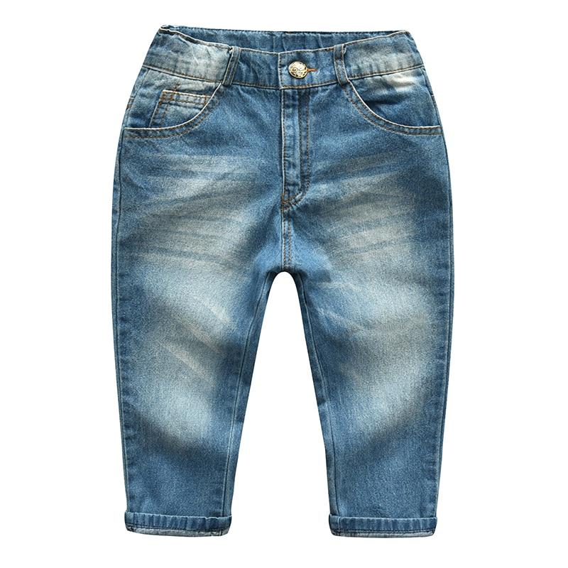 Spring Autumn Baby Boys Jeans Children Long Legging Cowboy Pants Cotton Denim Trouser Kids Clothes
