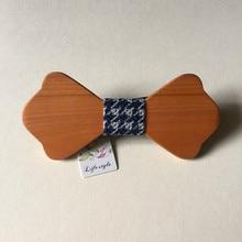New Bow Tie Bow Tie And Handkerchief Set Fashion Elegant Purple Bow Tie Floral Jacquard Adjustable Wood Bowtie