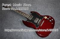 Alta calidad angus young sg electric guitars en cerezo envejecido china oem herrajes cromados guitarra cuerpo de encargo disponibles