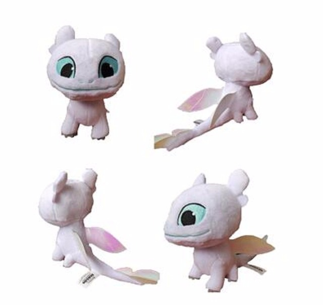 aaa3d1b7973 2019 18cm White Toothless How to Train Your Dragon 3 Plush Toy Night Fury  Soft White Dragon Stuffed Animal Doll Toys Light Fury