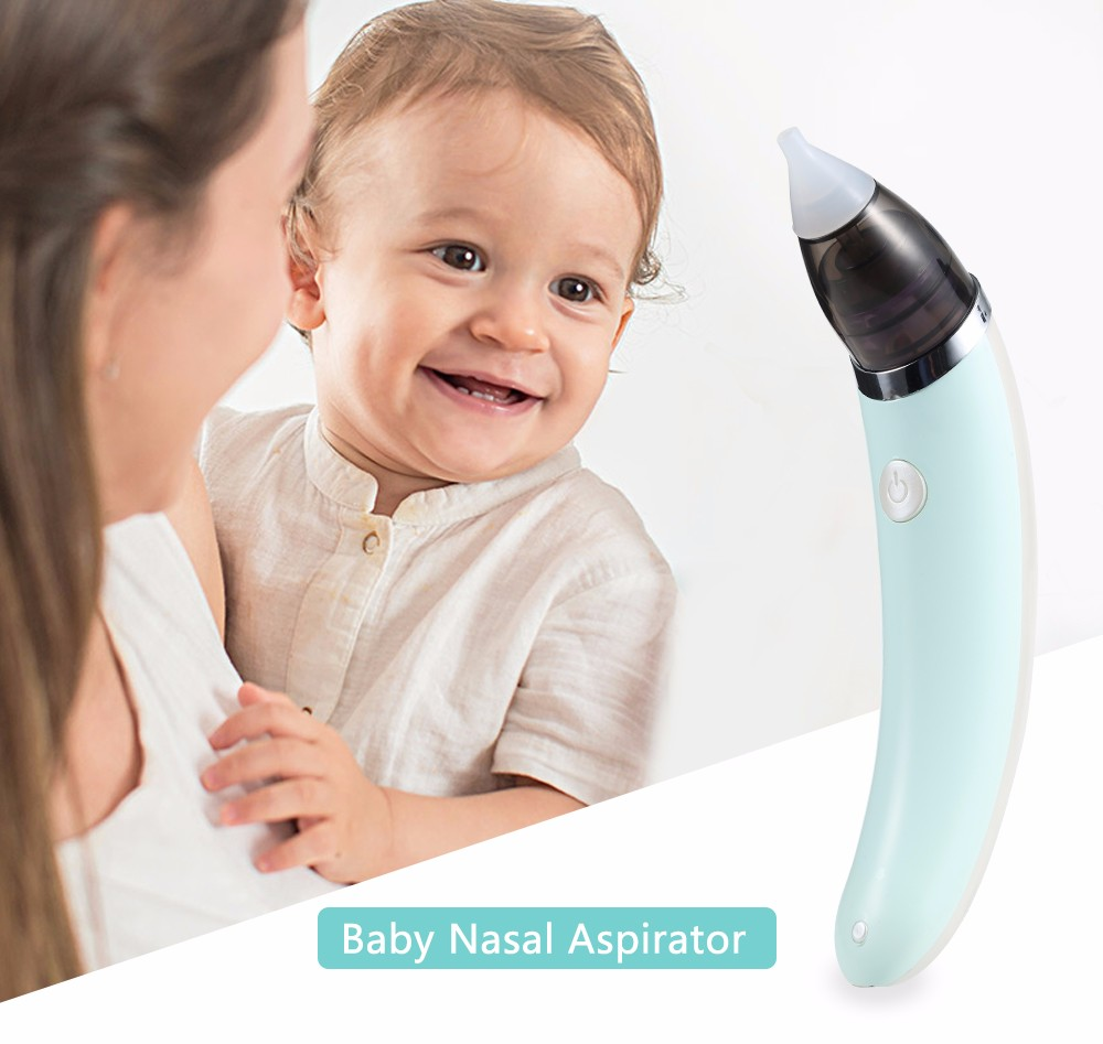 2 in 1 Baby Nasal Aspirator Electric Safe Hygienic Nose Cleaner Oral Snot Sucker