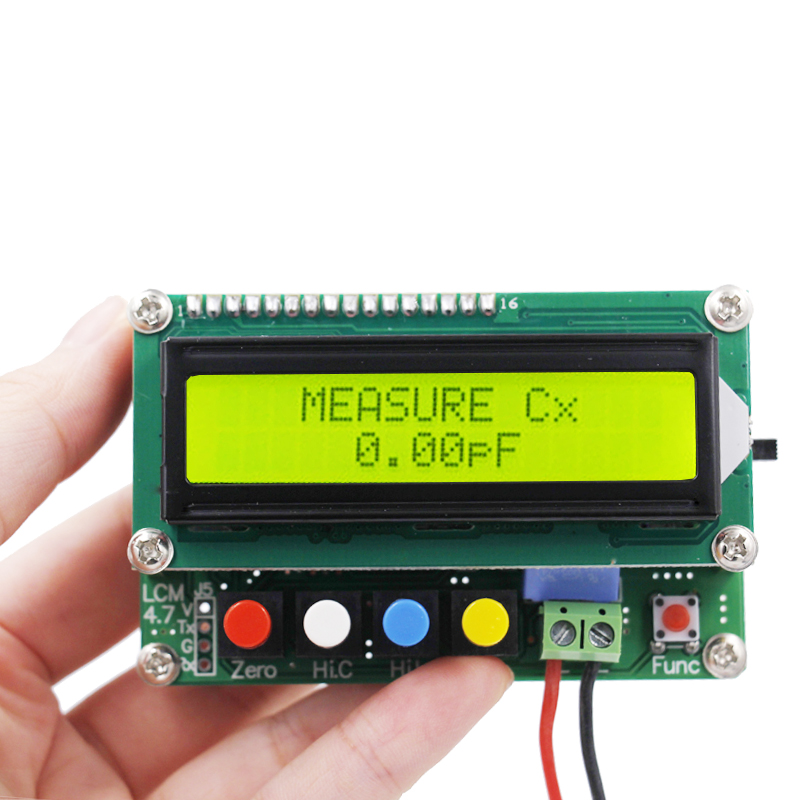 NEW LC100-A Digital LCD High Precision Inductance Capacitance L/C Meter capacitor tester 10%off high precision digital capacitance inductance meter auto ranging component tester 500kh lc rc oscillation inductance multimeter