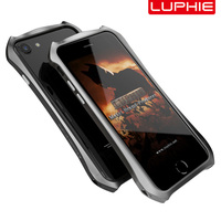 LUPHIE Original Design Aluminum Alloy Fitted Mobile Phone Case Bumper For Apple Iphone 6 6S 7