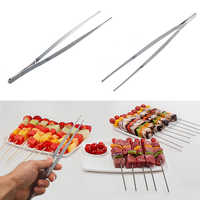 30cm Barbecue Tweezers Tongs Stainless Steel Food Churrasco Tweezer Kitchen Cooking Utensils Gadgets BBQ Food Clip Accessories