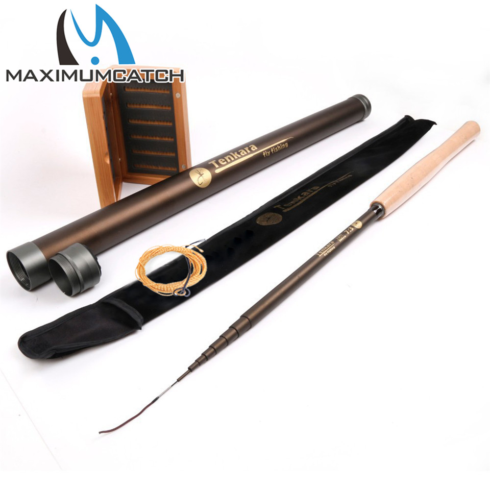 Maximumcatch Tenkara Fly Rod & Box Combo 13FT/3.9m 7:3 Action 9Segments Super Light Traditional Fly Rod Line Bambo Box Combo maximumcatch 13ft tenkara fly fishing rod 7 3 action 9 segments super light traditional tenkara fly rod