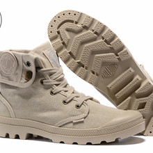 425838fe93 PALLADIUM Pallabrouse Khaki Turn help Men Military Ankle Boots Sneakers  Canvas Casual Shoes Men Casual Shoes