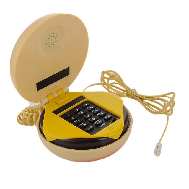 Mais novo Hambúrguer Telefone Com Fio para casa Mesa Moda Dom Telefone Telefon telefon Linha de Terra 1 Casa Dropshipping