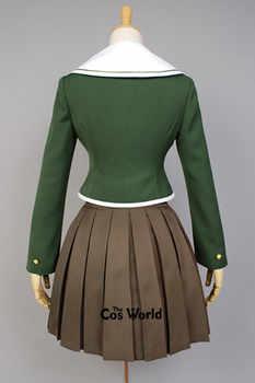 Danganronpa Fujisaki Chihiro School Uniform Coat Shirt Dress Outfit Anime Cosplay Costumes