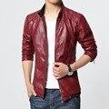 Los hombres las chaquetas de cuero y abrigos negro rojo arriba chaqueta de cuero hombre chaqueta chaqueta chaqueta veste homme cuir leather hombre pp leren jas