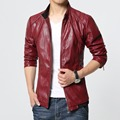 Men leather jackets and coats red black blazer top man leather jacket veste homme cuir chaqueta cuero hombre pp jacket leren jas