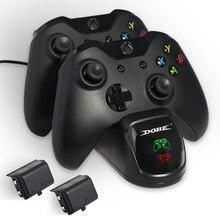Контроллер зарядное устройство для Xbox One/Xbox One S/Xbox One X двойной геймпад зарядная станция Док-станция с 2 перезаряжаемыми аккумуляторами