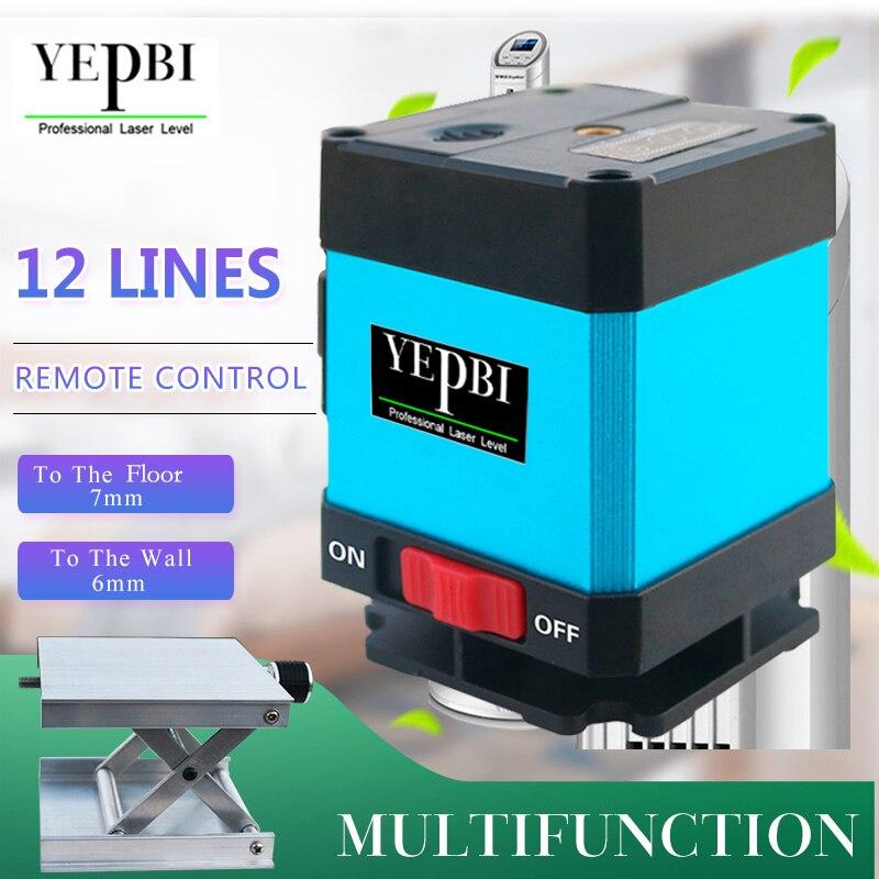 цена на Yepbi 12 Lines 3D Laser Level 360 Autonivelante Laser Square Level Tile Laying - Huepar Floor Laser Installation for Tile