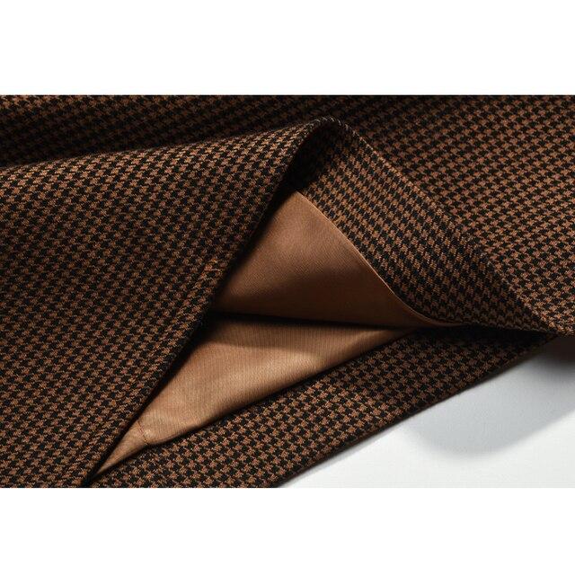 AEL Women Winter Autumn Plaid Woolen Suit Jacket 2017 Grace Female Coat Fashion Lattice Slim Waist Office Lady Clothing 5