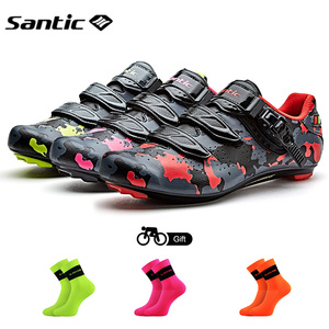 Image 1 - Santic ขี่จักรยานรองเท้าคาร์บอนไฟเบอร์จักรยานรองเท้าผู้ชาย Professional Racing ทีมรองเท้าผ้าใบ Breathable กีฬากลางแจ้งรองเท้า