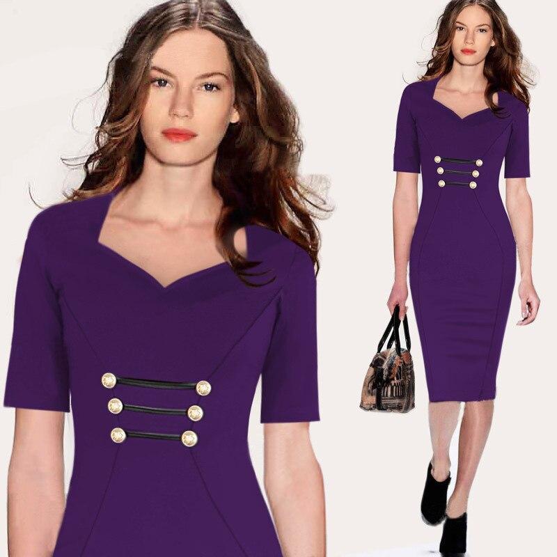 83a65ff54ea3 iRicheraf Women Office Dresses Knee length Summer Casual Short ...