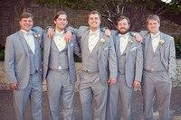 Latest Coat Pant Designs Grey Wedding Suits For Men Slim Fit Groomsmen Simple Suit Custom Blazer