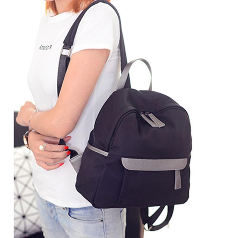 2017 Women Backpack Waterproof Nylon Student School Bags Girl Backpacks  Female Casual Travel Bag Ladies Mochila Feminina F88-in Backpacks from  Luggage ... 3903fcfd18