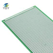 Carte PCB universelle, 5 pièces, 9x15, 9x15 cm, simple face, cuivre, plaque expérimental, trou de circuit, planche à pain verte