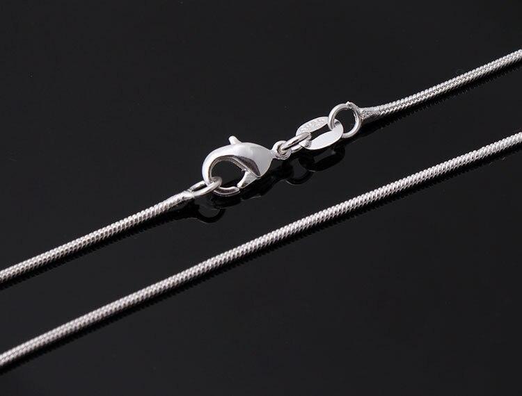 Дешевые цепи оптовая продажа с серебряным покрытием ожерелье падение доставка 16 18 дюйм ...