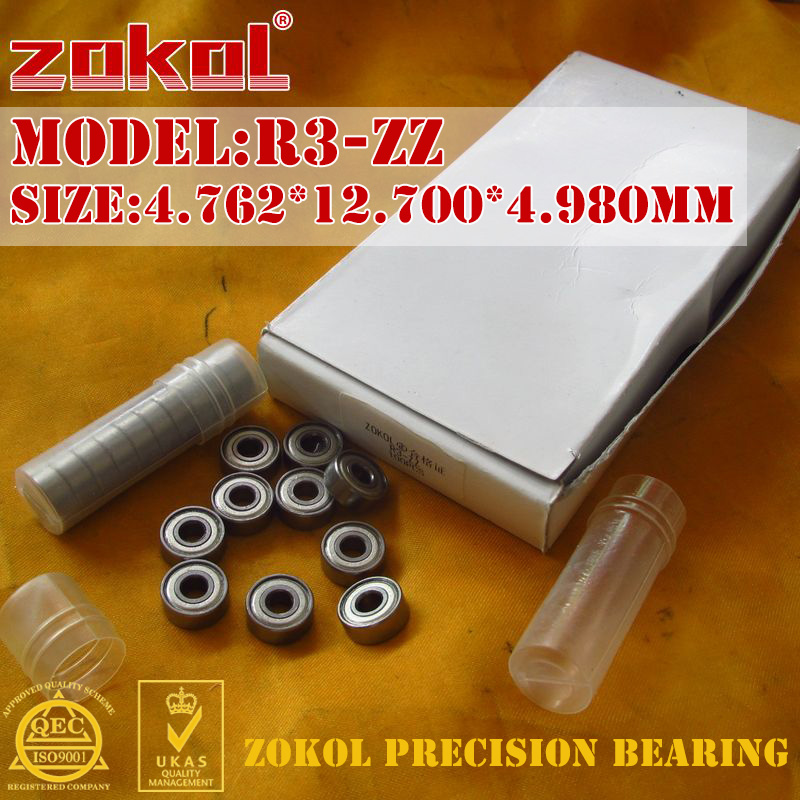 ZOKOL R3 2RS ZZ Bearing R3-ZZ R3-2RS Miniature  R3 ZZ Deep Groove Ball Bearing 4.762*12.700*4.980mm