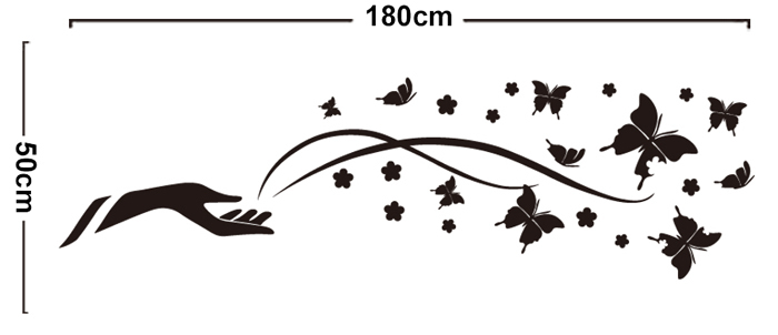 New Vinyl Wall Stickers Home Decor Black Art Arm Butterfly - Butterfly vinyl decals
