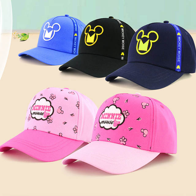 ffe20faa Disney children hat mickey mouse cap fashion cartoon kids hat outdoor wear  cotton Adjustable breathable Visor Shade Baseball cap-in Hats & Caps from  Mother ...