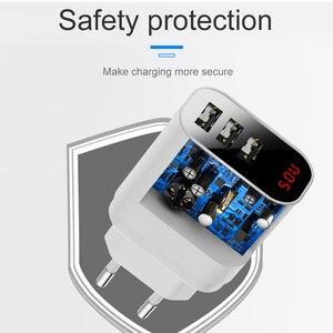 Image 5 - Baseus 3.4A Màn Hình Hiển Thị LED USB Sạc Điện Thoại Cho iPhone Samsung Di Động Sạc Tường 3 Cổng USB Sạc Cho Xiaomi OnePlus huawei