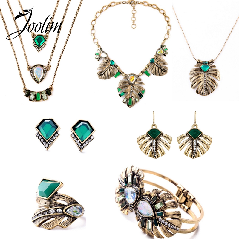 american jewelry wholesale joolim jewelry wholesale 2016 vintage leaf jewelry set 7968