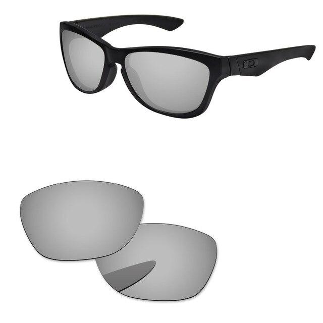 b7727bf41f13e Cromo espejo de plata polarizadas lentes para Júpiter gafas de sol marco 100%  UVA y